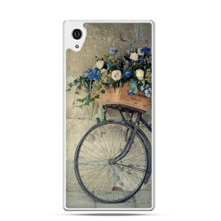 Xperia Z2 etui rower z kwiatami