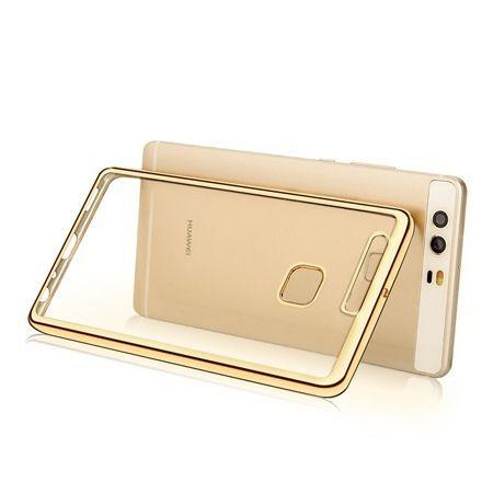 Huawei P9 etui silikonowe platynowane SLIM tpu złote.