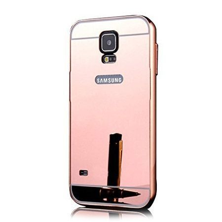 Mirror bumper case na Galaxy S5 (Rose Gold) - Różowy