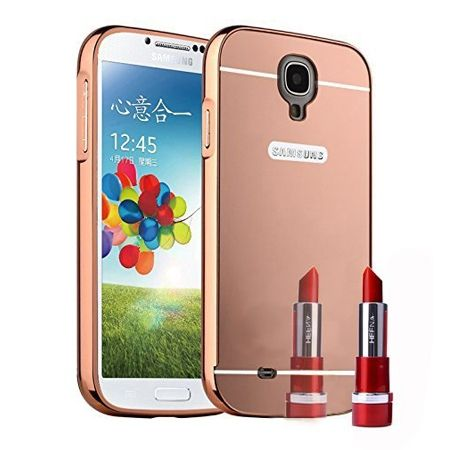 Mirror bumper case na Galaxy S4 (Rose Gold) - Różowy