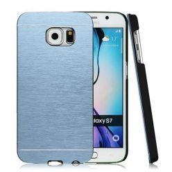Galaxy S7 etui Motomo aluminiowe niebieski. PROMOCJA !!!