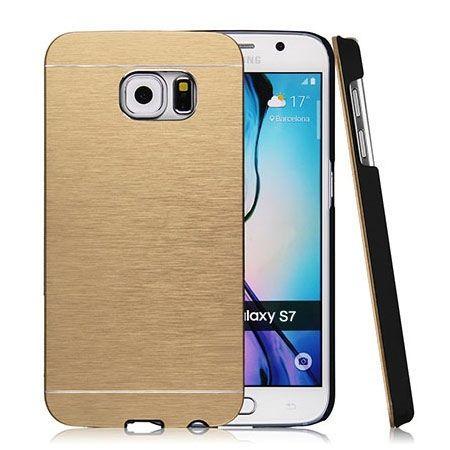 Galaxy S7 etui Motomo aluminiowe złoty. PROMOCJA !!!