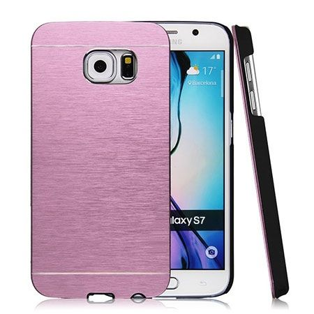 Galaxy S7 Edge etui Motomo aluminiowe różowy. PROMOCJA !!!