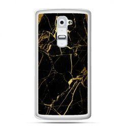 Etui na telefon LG G2 złoty marmur