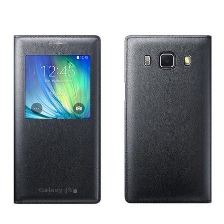 Galaxy J5 2016 etui Flip S View z klapką - czarny.