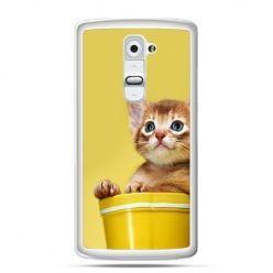 Etui na telefon LG G2 kot w doniczce