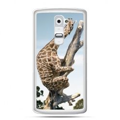 Etui na telefon LG G2 śmieszna żyrafa