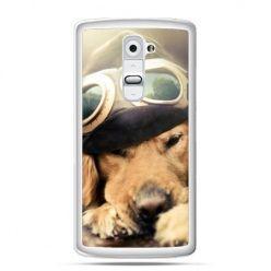Etui na telefon LG G2 pies w okularach