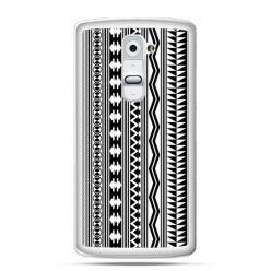 Etui na telefon LG G2 czarno biały wzorek