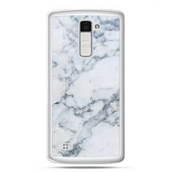 Etui na telefon LG K10 biały marmur