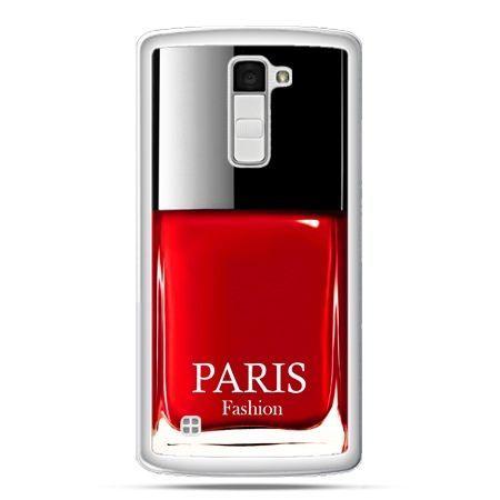 Etui na telefon LG K10 lakier do paznokci czerwony