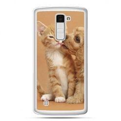 Etui na telefon LG K10 jak pies i kot