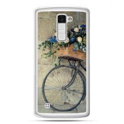 Etui na telefon LG K10 rower z kwiatami