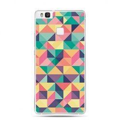 Etui na Huawei P9 Lite kolorowe trójkąty.