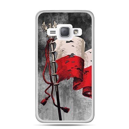 Etui na telefon Galaxy J1 (2016)  patriotyczne - flaga Polski
