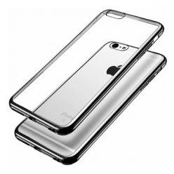 iPhone 6 / 6s  silikonowe etui platynowane SLIM kolor (Gunmetal) - czarny.