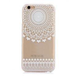 Etui na iPhone 6 / 6s przezroczyste twarde, biała Rozeta. PROMOCJA!!!