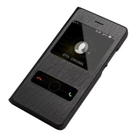 Huawei P8 Lite etui Flip Quick View z klapką dwa okienka - czarne.
