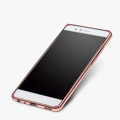 Huawei P9 etui silikonowe platynowane SLIM tpu różowe.