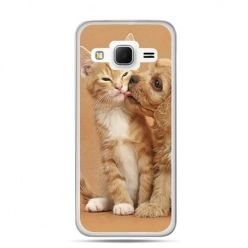 Etui na Galaxy J3 (2016r) jak pies i kot