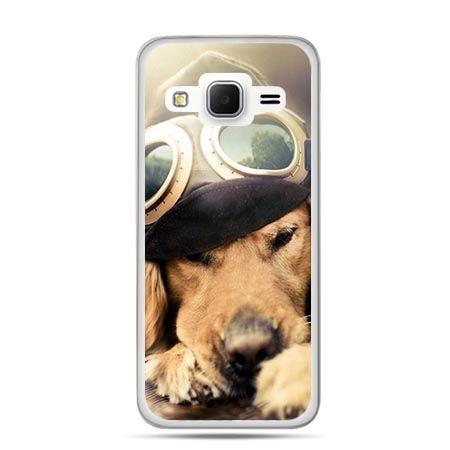 Etui na Galaxy J3 (2016r) pies w okularach