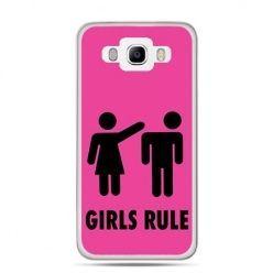 Etui na Galaxy J5 (2016r) różowe Girls Rule