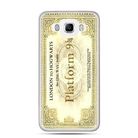 Etui na Galaxy J5 (2016r) bilet platform 9 3/4 Harry Potter
