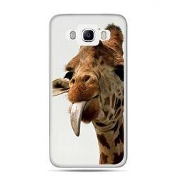 Etui na Galaxy J5 (2016r) żyrafa z językiem