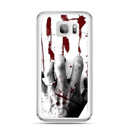 Etui na telefon Galaxy S7 Edge zakrwawiona ręka
