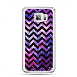 Etui na telefon Galaxy S7 Edge zig zag galaktyka