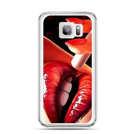 Etui na telefon Galaxy S7 Edge usta z papierosem