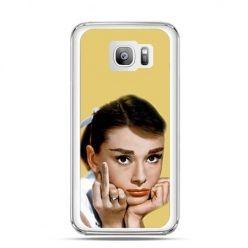 Etui na telefon Galaxy S7 Edge Audrey Hepburn Fuck You