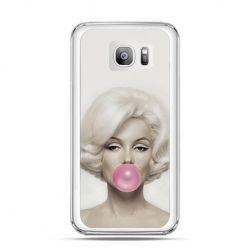 Etui na telefon Galaxy S7 Edge Monroe z gumą balonową