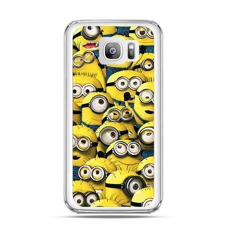 Etui na telefon Galaxy S7 Edge Minionki grupa