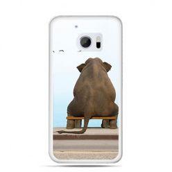 Etui na telefon HTC 10 zamyślony słoń