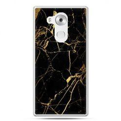 Etui na telefon Huawei Mate 8 złoty marmur