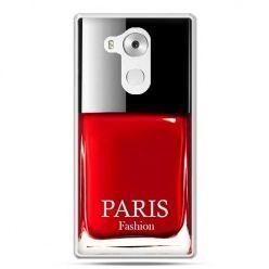 Etui na telefon Huawei Mate 8 lakier do paznokci czerwony
