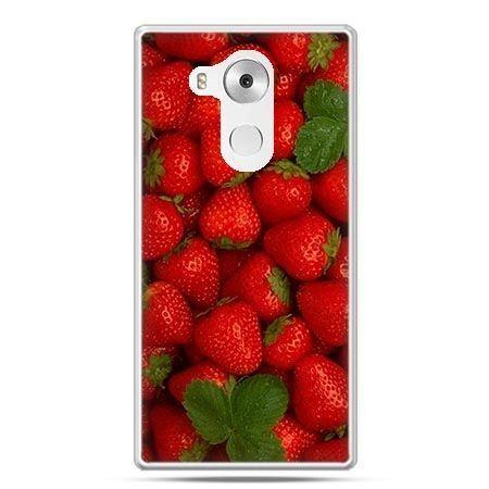 Etui na telefon Huawei Mate 8 czerwone truskawki