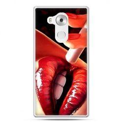 Etui na telefon Huawei Mate 8 usta z papierosem
