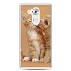 Etui na telefon Huawei Mate 8 jak pies i kot