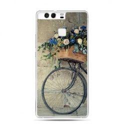 Etui na telefon Huawei P9 rower z kwiatami