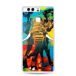 Etui na telefon Huawei P9 kolorowy słoń