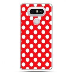 Etui na telefon LG G5 czerwona polka dot