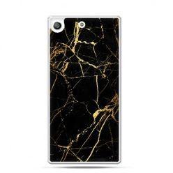 Etui na telefon Xperia M5 złoty marmur