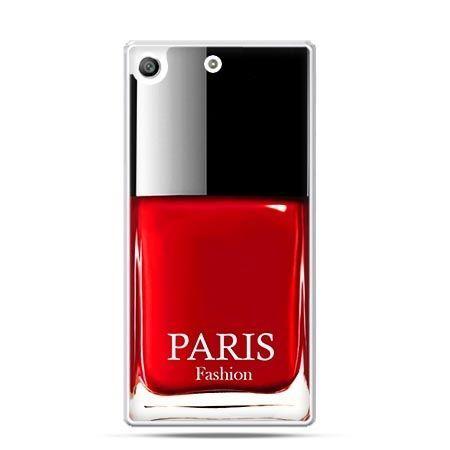 Etui na telefon Xperia M5 lakier do paznokci czerwony