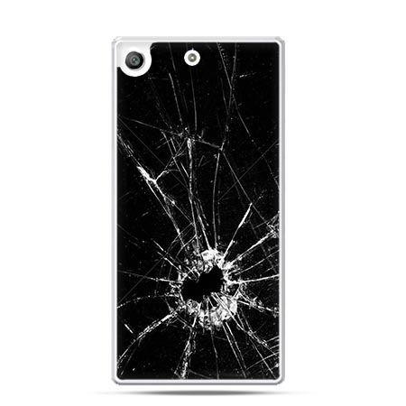 Etui na telefon Xperia M5 rozbita szyba