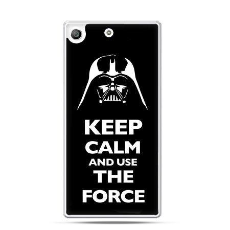 Etui na telefon Xperia M5 Keep calm and use the force