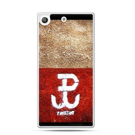 Etui na telefon Xperia M5 Polska walcząca flaga