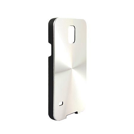 Galaxy S5 / S5 Neo plecki aluminiowe efekt cd - srebrne. PROMOCJA !!!