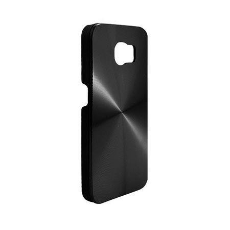Etui na Galaxy S6 plecki aluminiowe efekt cd - czarne. PROMOCJA !!!